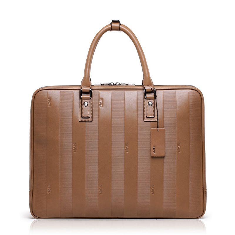 Bvp-high-end business aktentasche männer top-echtes leder vintage laptop koffer men15 reisetaschen leder brifecases j30