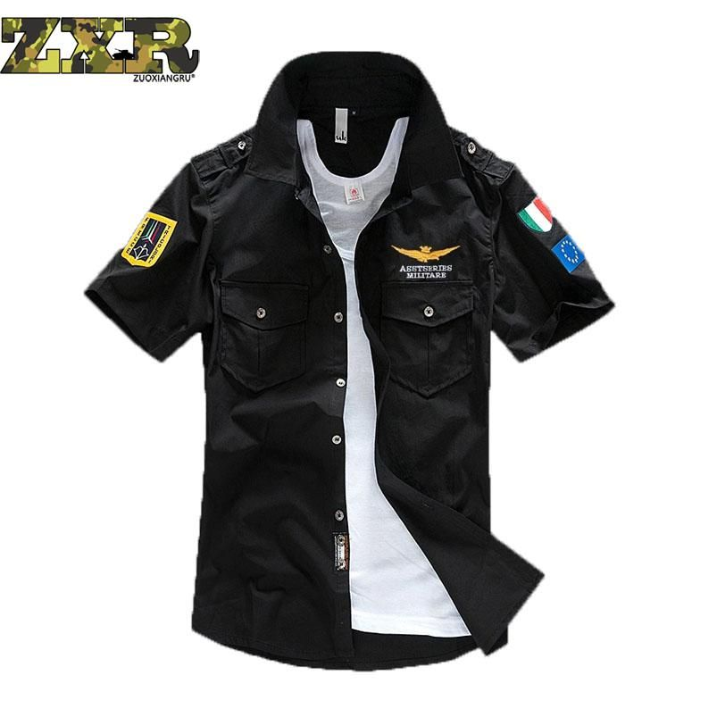 Men's Clothes Tactical Bomber Air Force Quick Drying short Sleeve Shirts Outdoor Camping Breathable Combat Military Shirts