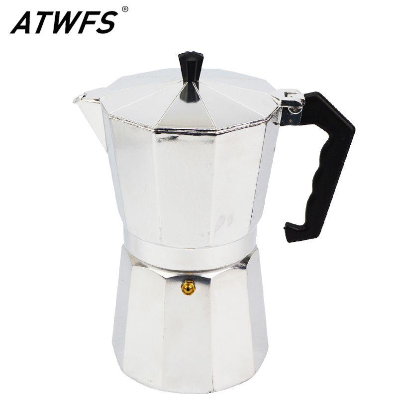ATWFS High Quality Espresso Coffee Pots 3/6/9/12 Cups Aluminum Moka Pot Coffee Maker Moka Espresso Cup