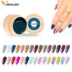 #50638 Professional Nails Gel CANNI Nails Art UV LED Gel Neon Paint Colors 2018 Venalisa New Design 180 Starry Colors Nail Gel