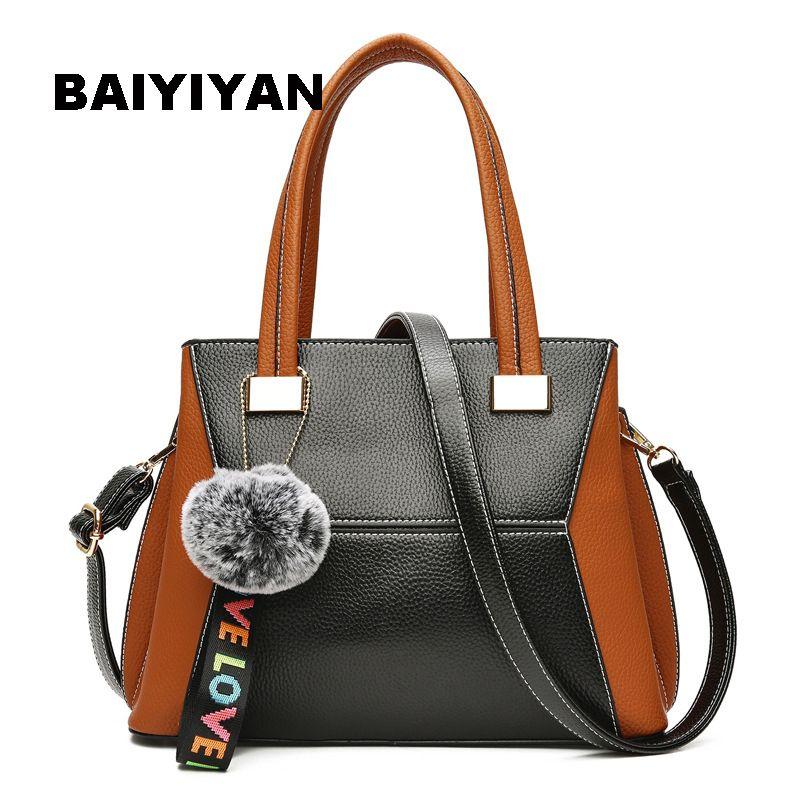 BAIYIYAN Nouvelle PU En Cuir de luxe femmes sacs designer casual Sac À Main épaule bandoulière sacs pour femmes sac fourre-tout sac bolsa