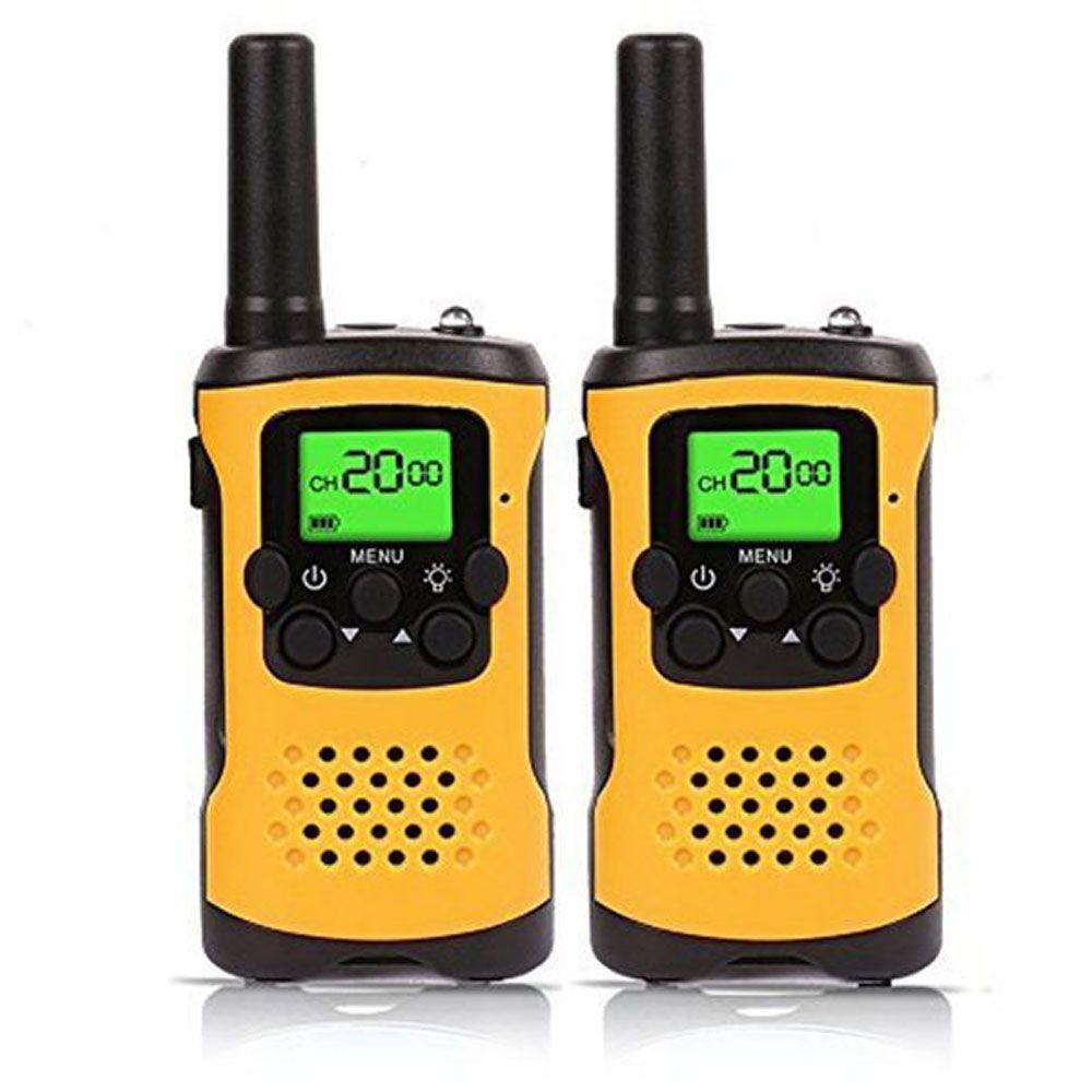 Enfants Talkies-walkies, 22-Canal FRS/GMRS Radio, 4-Mile Gamme Mini Deux Radios Bidirectionnelles avec lampe de Poche et LCD Écran Cadeau