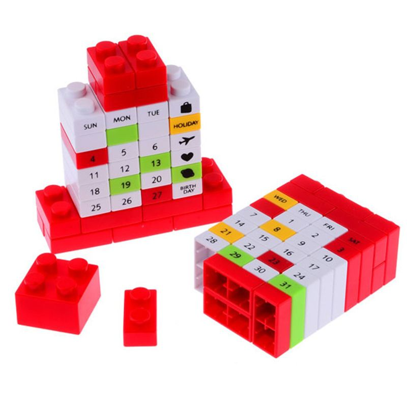 Cute Variety DIY Calendar 4 Colors Creative Perpetual Puzzle Puzzle Birthday Calendars Gifts