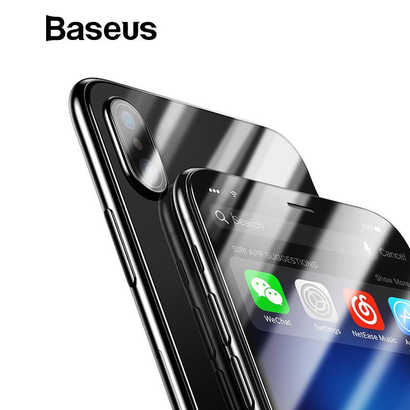 Baseus Front Glas + Zurück Gehärtetem Glas Für iPhone Xs Xs Max XR 2018 Schutz Glas Screen Protector Für iPhone xs Xs Max
