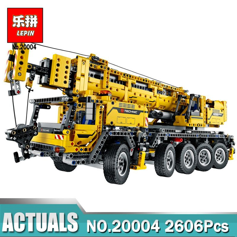 LEPIN 20004 2606Pcs Technic Motor Power Mobile Crane Mk II Model Building Kits Blocks Bricks Christmas Gift Toy legoinglys 42009