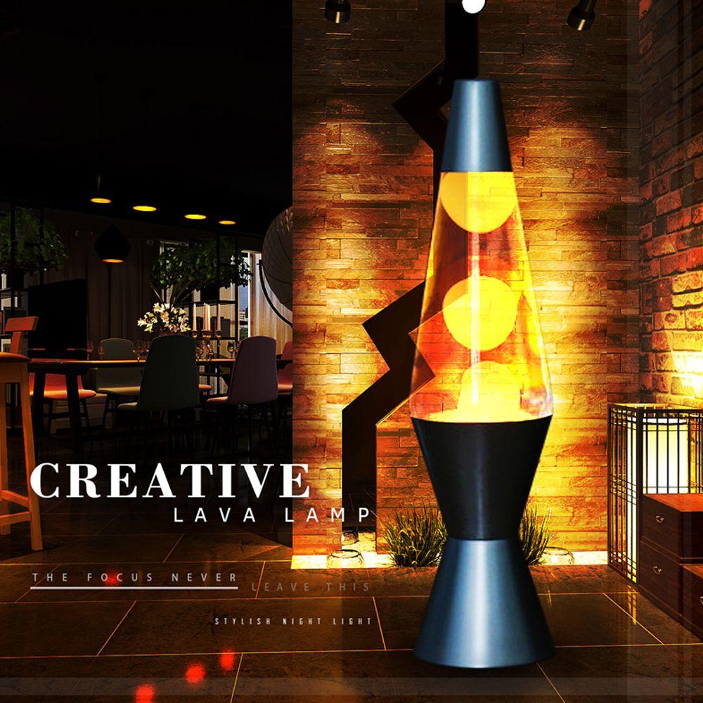 2017 Recién llegado de base de Metal lámpara de Lava volcánica Cera fusión Creativa luz de la noche decoración luz Deslumbrante luz Medusas lámpara de Lava
