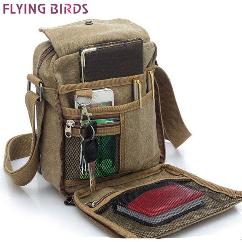 Летящие птицы! Мужские сумки через плечо сумка на плечо Лидер продаж холст сумки высокого качества Мужская путешествия мужчины сумка высок...