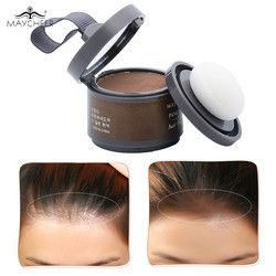 MAYCHEER 4 Color Hair Fluffy Powder Instantly Black Root Cover Up Natural Instant Hair Line Shadow Powder Hair Concealer Coverag