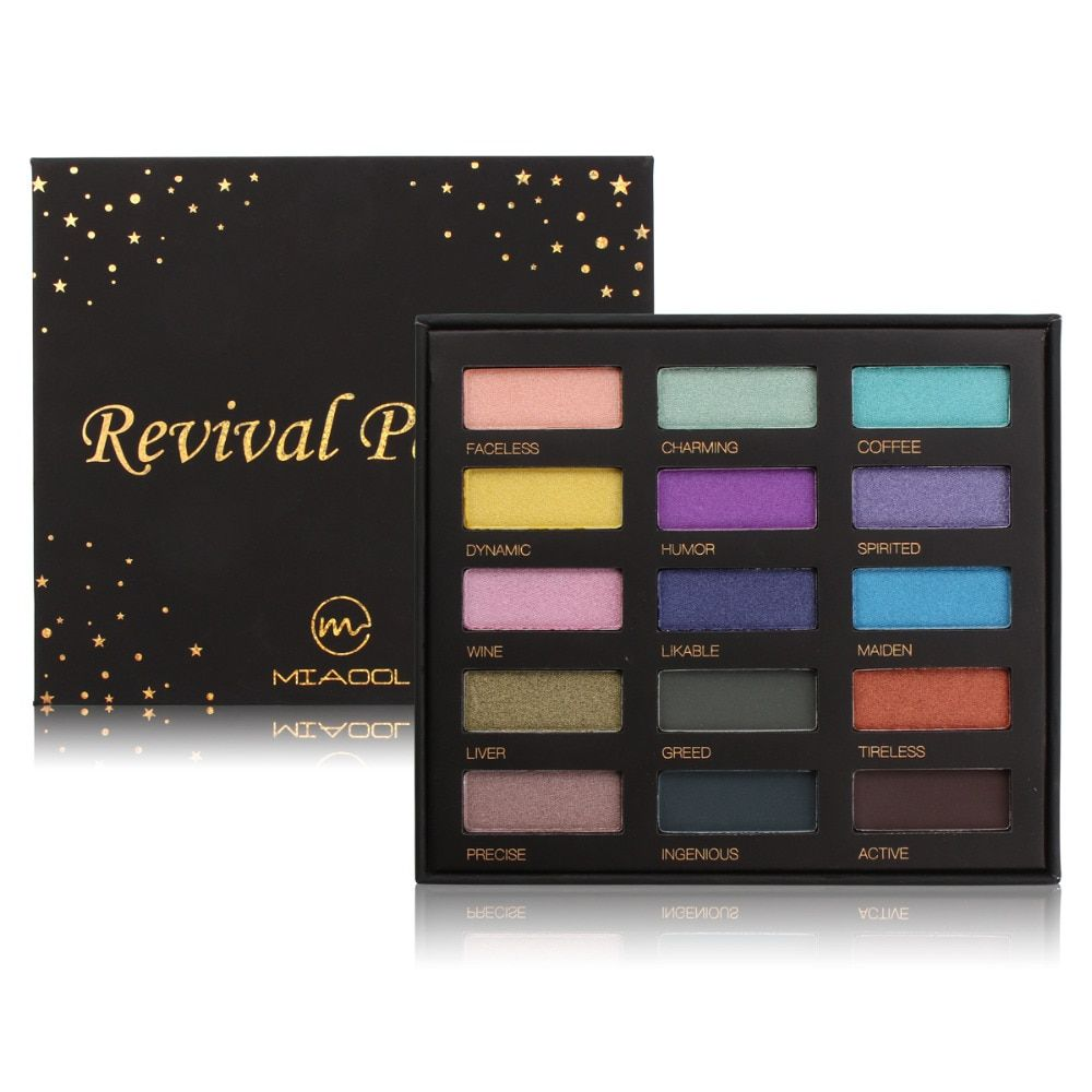 Eyeshadow Palette Shimmer Matte Glitter Eye Shadow 15 Colors in One Makeup Palette Maquillage Make Up Set for Beauty MIAOOL