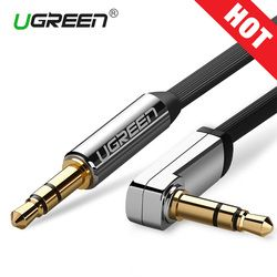 Ugreen AUX Cable Jack 3,5mm Audio Cable 3,5mm Jack Cable para JBL auriculares coche Xiaomi redmi 5 más oneplus 5 t cable auxiliar