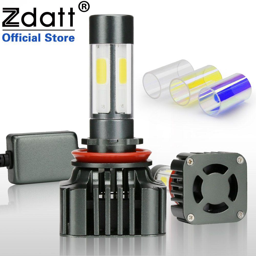 Zdatt 360 Degree Lighting Super Bright H8 H11 Led Headlight Bulb 6000K 100W 12000LM Car Led Light 12V Fog Lamp Conversion Kits