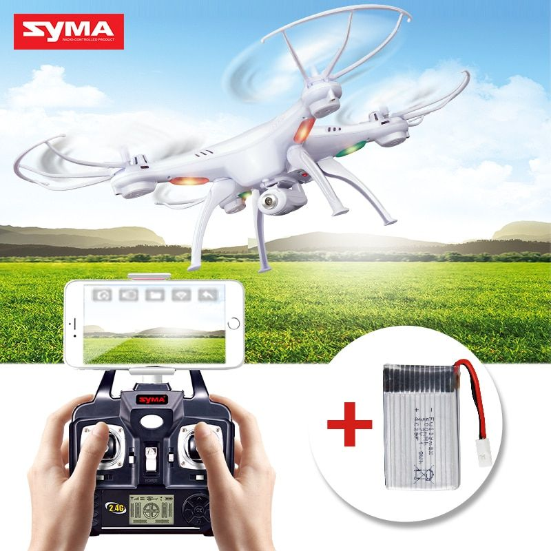SYMA X5SW RC Drone Quadcopter With Camera FPV WIFI Real Time Transmit Headless Mode RC Selfie Drones Aircraft Gifted battery