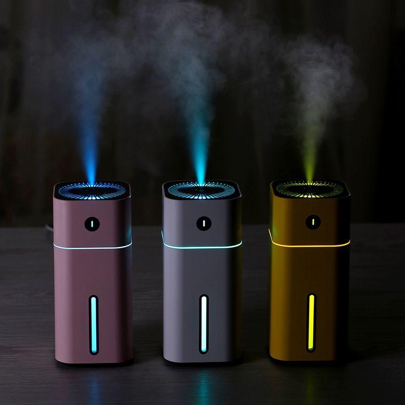 Diffuseur D'huile Essentielle d'arome Ultrasonique de Mini Carré D Humidificateur Purificateur D'air LED Lumière De Nuit USB Voiture assainisseur d'air pour le Bureau