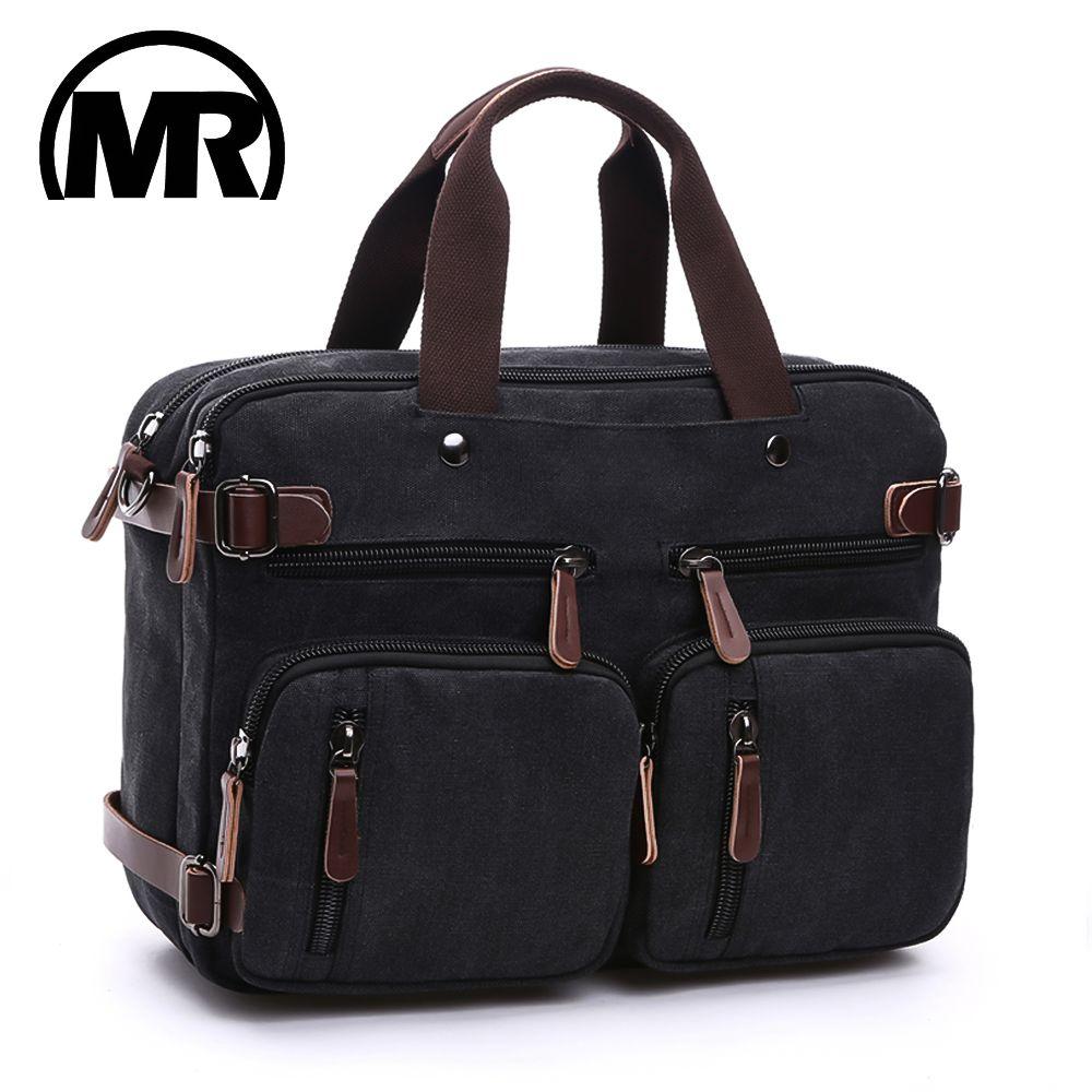 MARKROYAL Canvas Leather Men Travel Bags Hand Luggage Bags Men Duffel Bags Travel Tote Hide The Shoulder Strap Handbags School