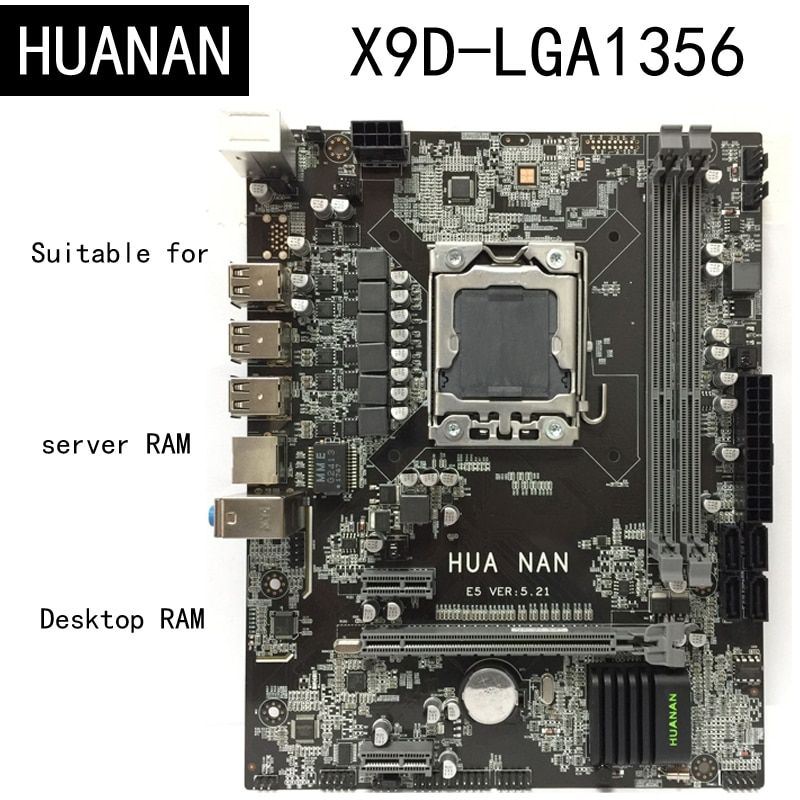 New arrival! HUANAN X9D LGA1356 LGA 1356 PC Computer <font><b>Desktop</b></font> Boards Motherboard Suitable for <font><b>Desktop</b></font> Server DDR3 ECC REG RAM