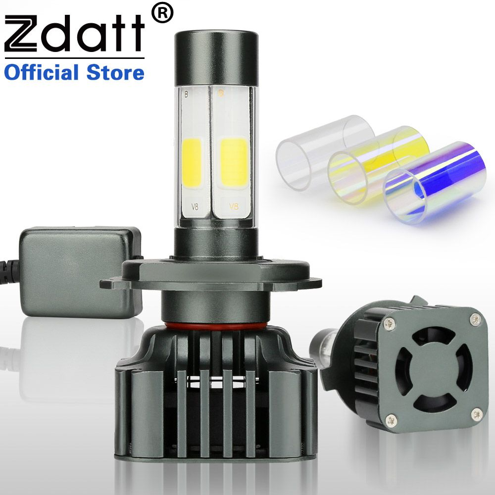 Zdatt 360 Degree Lighting Car Led Headlight Bulb H4 H7 H8 H9 H11 9005 HB3 9006 HB4 100W 12000LM Fog Light 12V Canbus Automobiles