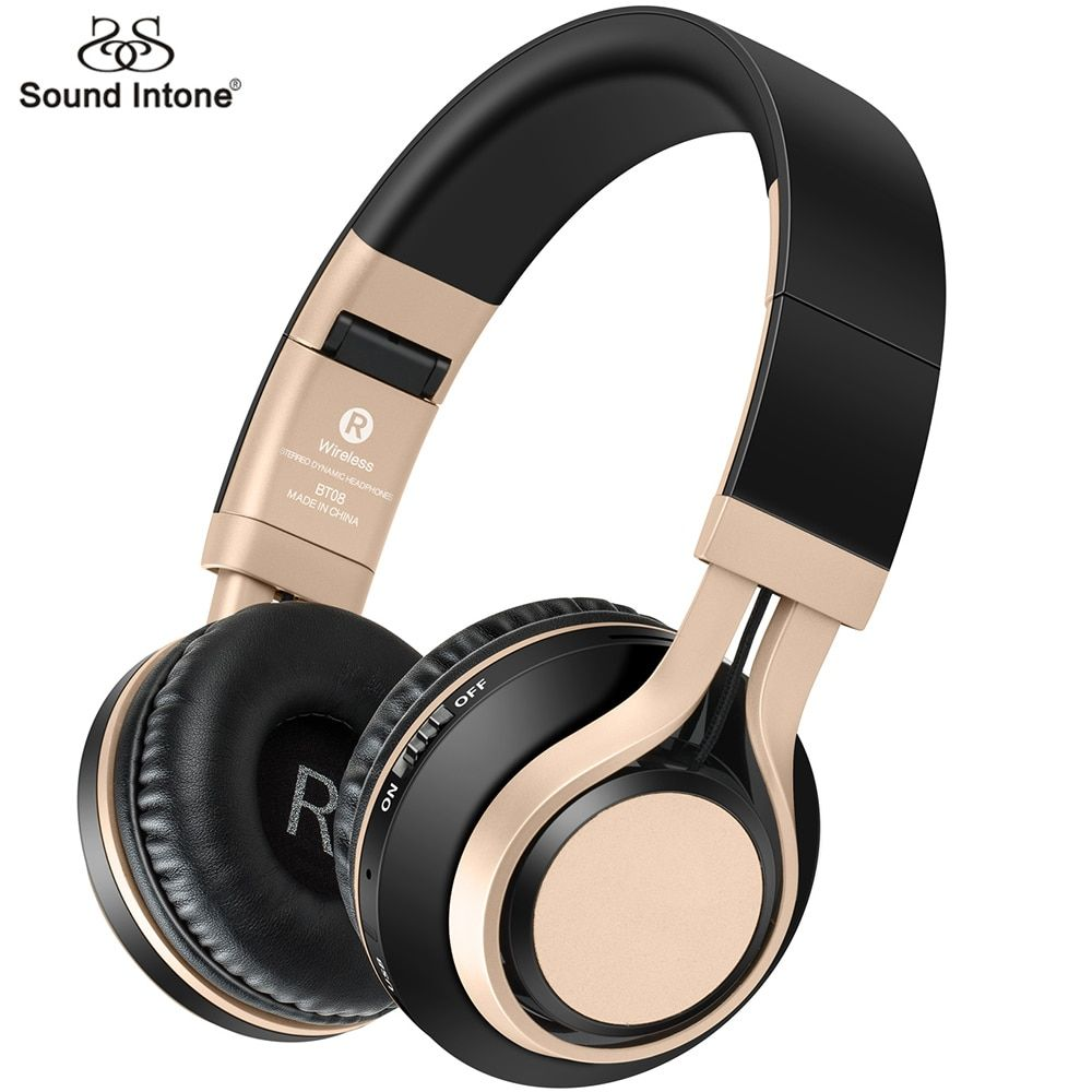 Sound Intone BT08 <font><b>Bluetooth</b></font> Headphone With Mic Support TF Card FM Radio Wireless Headphones Bass Headset For Cellphone PC TV MP3