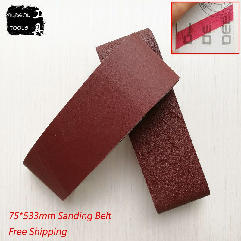 5 Pieces 75*533mm Sanding Belts 533 * 75mm Sanding Band 3