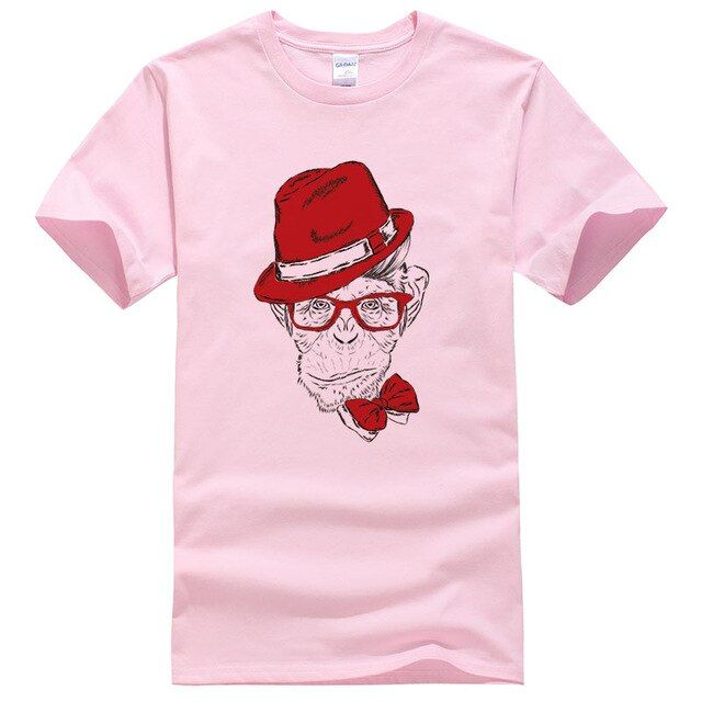2018 Men's and Women's T-Shirt Fashion Wear Hat Design T-Shirt Funny Orangutan/Gorilla T-Shirt Top Men's Tops PGD01