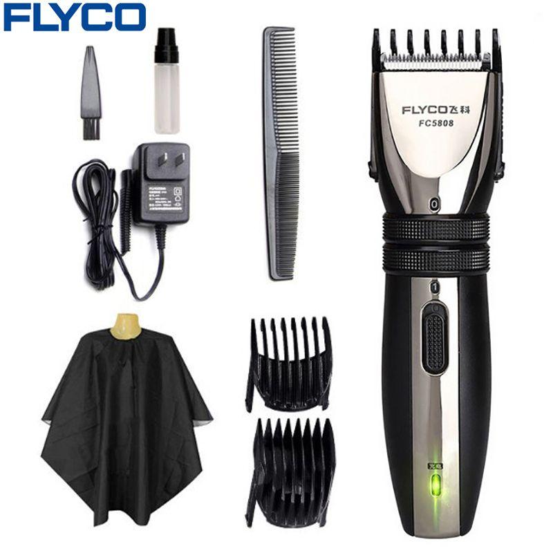 Flyco professionnel électrique tondeuse à cheveux pour adulte bébé Rechargeable tondeuses à cheveux Machine de coupe de cheveux barbes rasoir FC5808