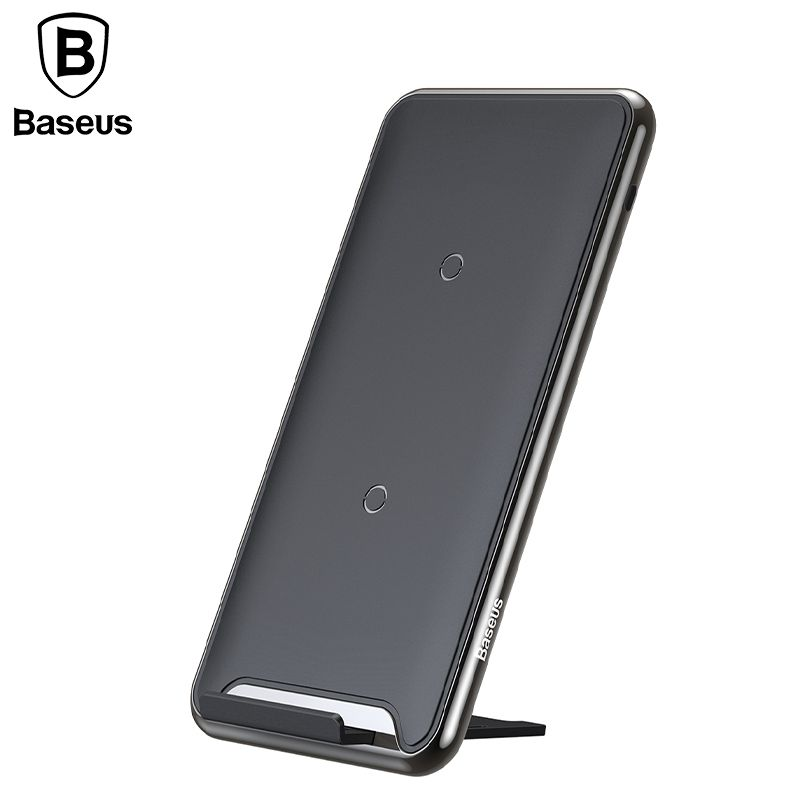 Baseus 10W 3 Coils Wireless Charger For iPhone X 8 Samsung S9 Oppo Qi Wireless Charging pad for mobile Phone Charger with Holder