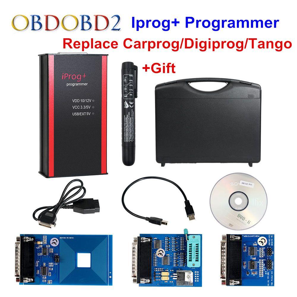 Newest Iprog+ Programmer Support IMMO + Mileage Correction + Airbag Reset Iprog Pro Till 2019 Replace Carprog/Digiprog/Tango