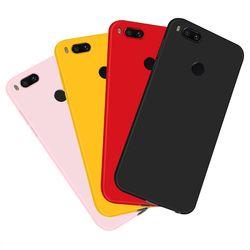 Demasiado suciedad-resistente caso para Xiao mi A1 5X silicona Ultra delgado Color puro para Xiao mi rojo mi nota 4X5 Plus Case Capa