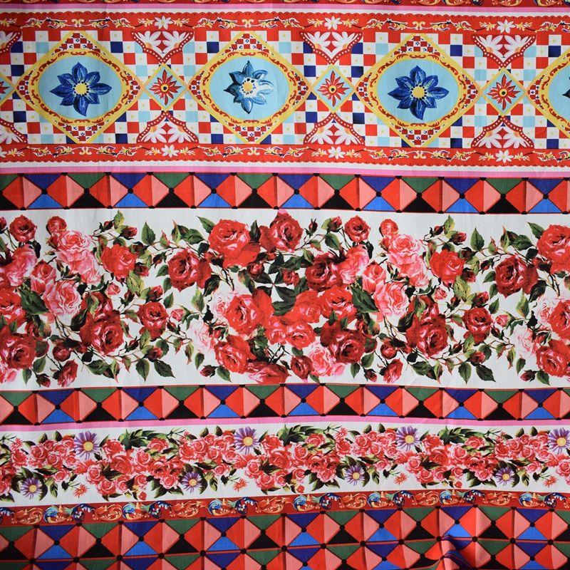 Réactive teinture géométrique fleur pur coton tissu pour robe tissus au mètre bazin riche getzner DIY tissu telas tecido africaine