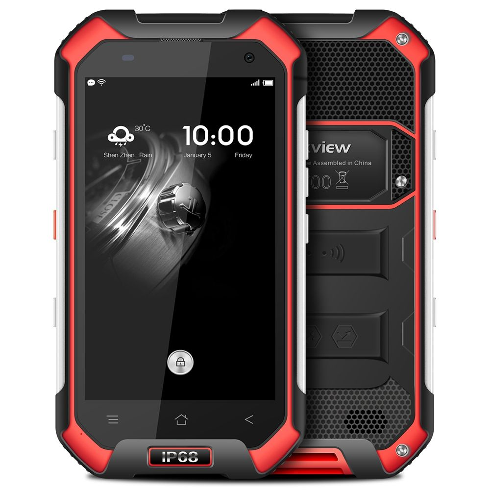 Blackview BV6000 4.7 Inch 4G Waterproof IP68 Mobile Phone Android 7.0 MTK6755 Octa Core 2.0GHz 3GB+32GB 5MP+13MP CellPhones