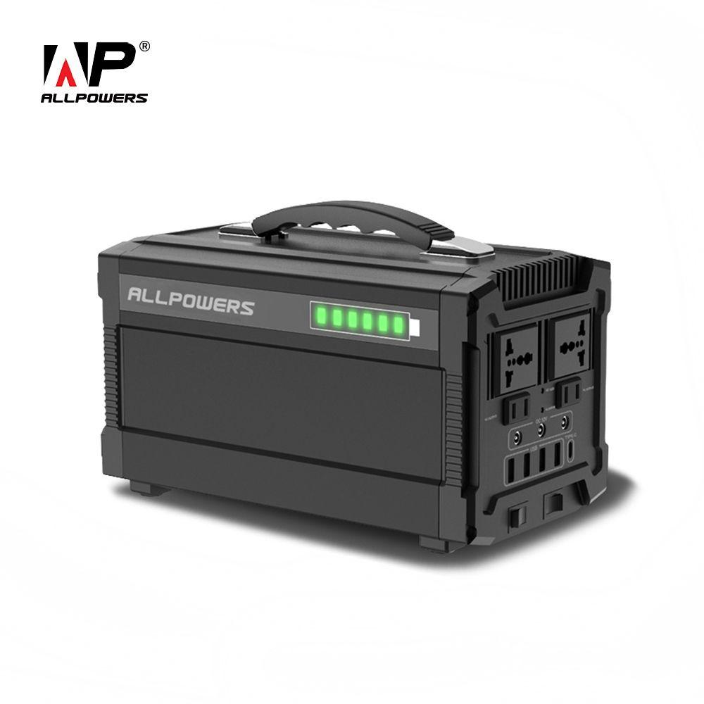 ALLPOWERS 220 V Power Bank 78000 mAh Tragbare Generator Power Station AC/DC/USB/Typ-C mehrere Ausgang UPS Power Batterie.