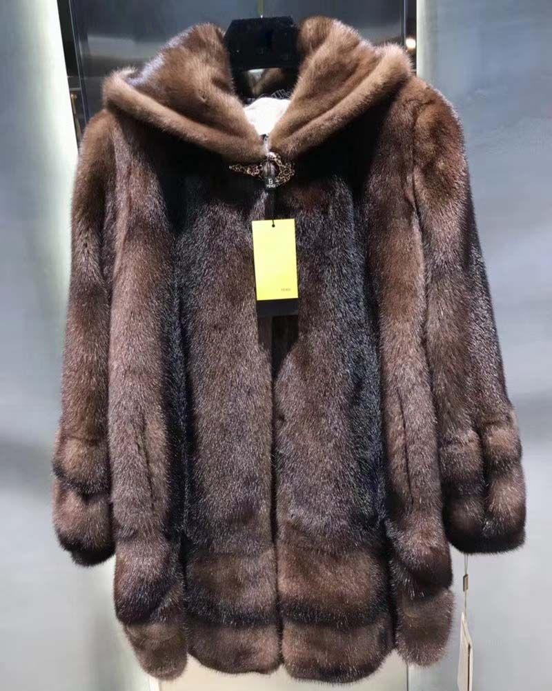 Noble lady temperament women coat fashion winter fur coats vadim with hood long casaco feminino lantern sleeve camel coat