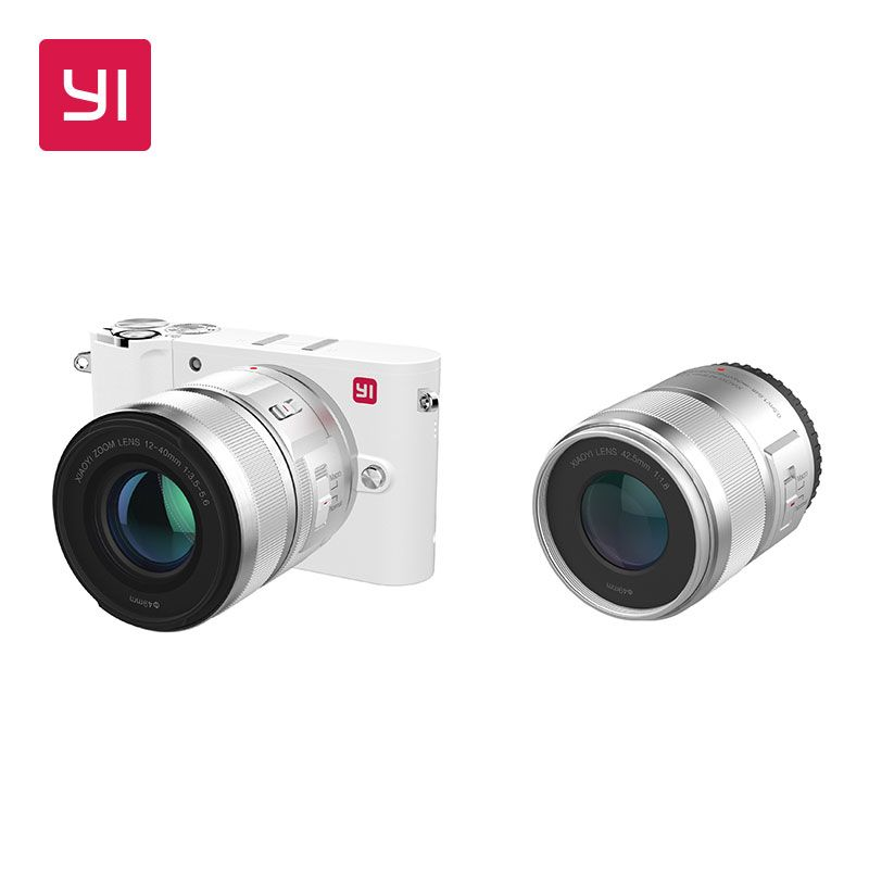 YI M1 Mirrorless Digital Camera Prime Zoom Two Lens LCD Minimalist International Version 20MP Video Recorder 720RGB Digital Cam