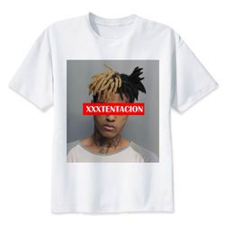 Xxxtentacion T shirt men t shirt fashion t-shirt O Neck white TShirts For man Top Tees M8166