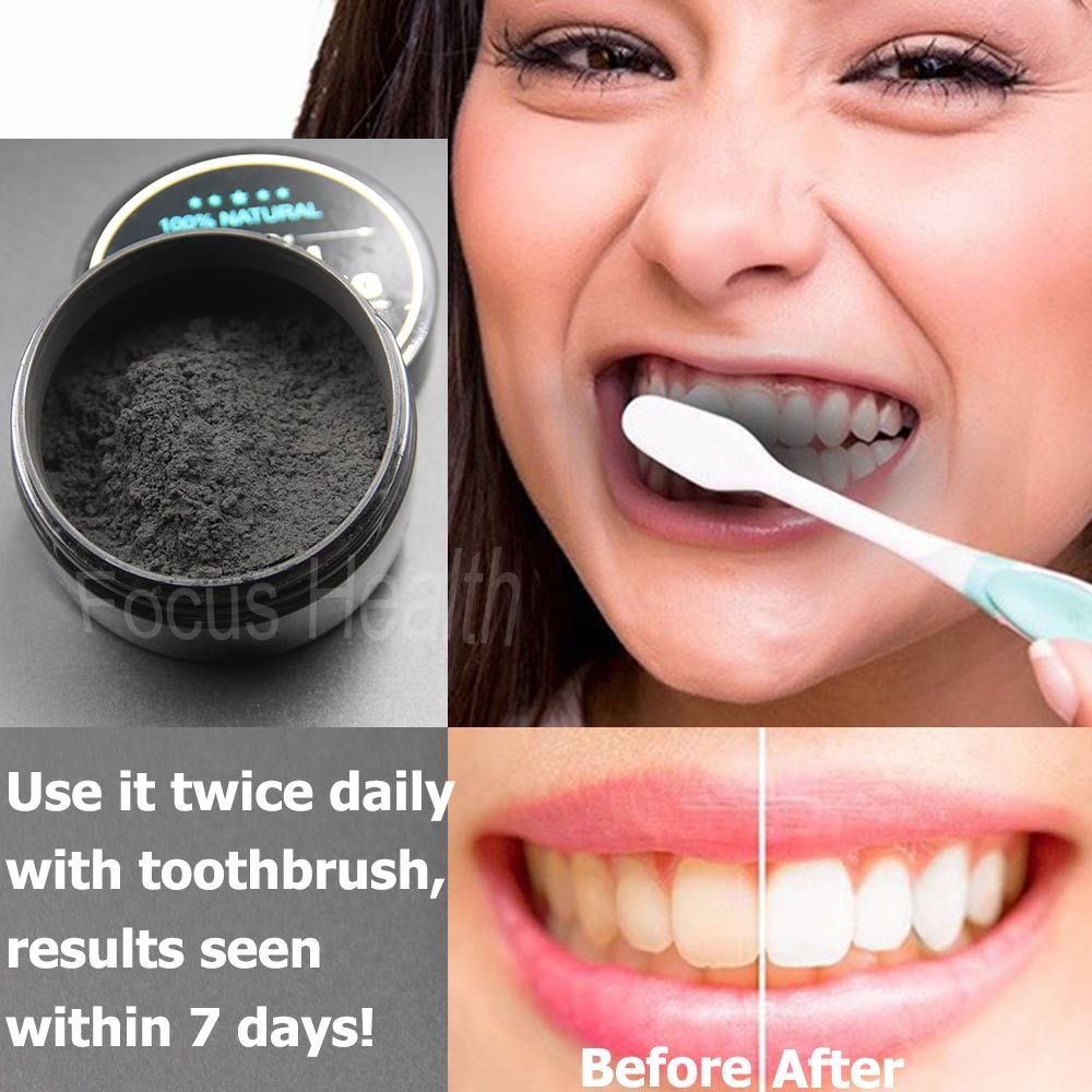 Teeth Whitening Cleaning Activated Charcoal Powder Natural Safe Tooth Whitener Bright White Teeth Dental Clean Oral Hygiene Care