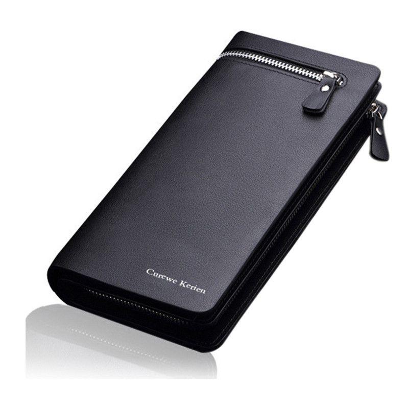 NEW Bifold Men Wallet Brand Famous Mens Leather Long Wallet Clutch Male Money Purse ID Card Holder Carteira Masculina