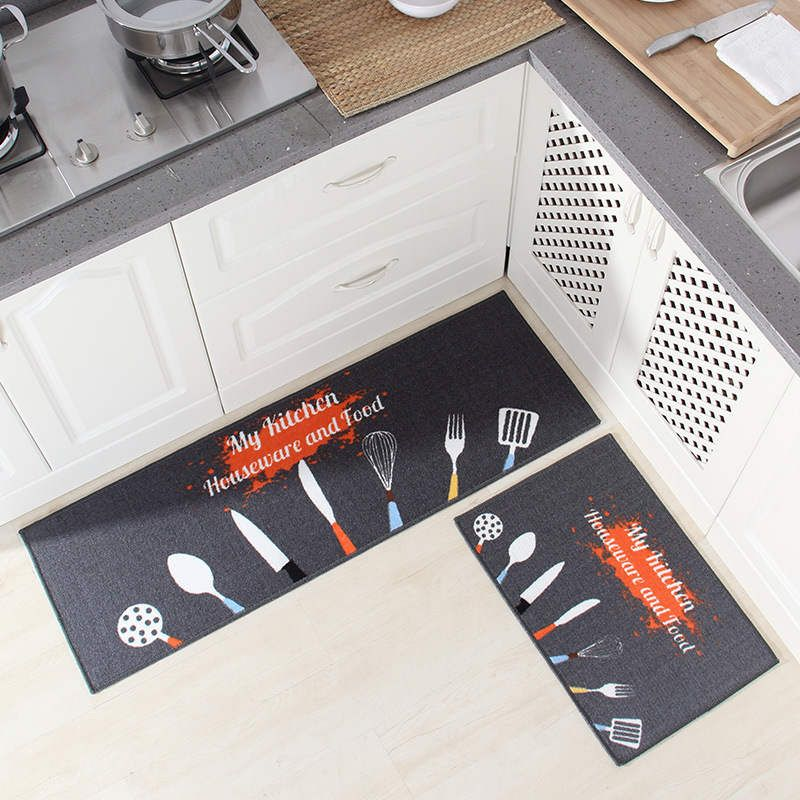 Tapis de cuisine Long tapis de bain tapis de sol entrée maison paillasson Tapete absorbant chambre salon tapis de sol tapis de cuisine moderne