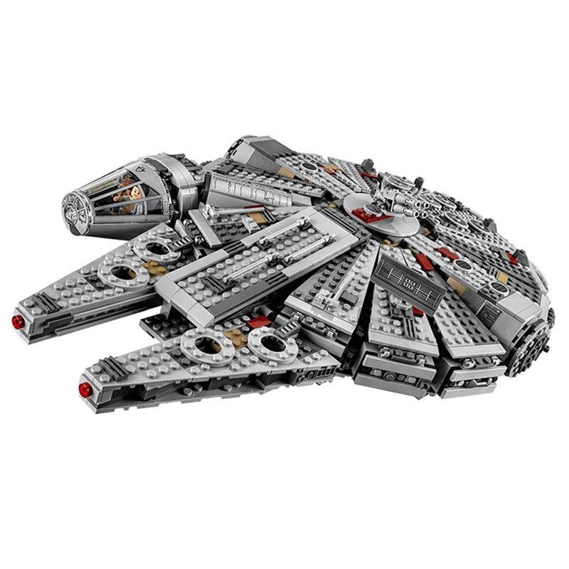 1381pcs Star Wars Millennium Falcon Legoings Building Blocks Kit Toys Boys Birthday Christmas Gifts Shipping model