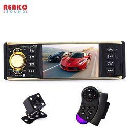 12 V 4019B 1 un Din MP3 reproductor de Radio de coches de Audio estéreo USB AUX FM estación de Radio Bluetooth con retrovisor cámara de Control Remoto