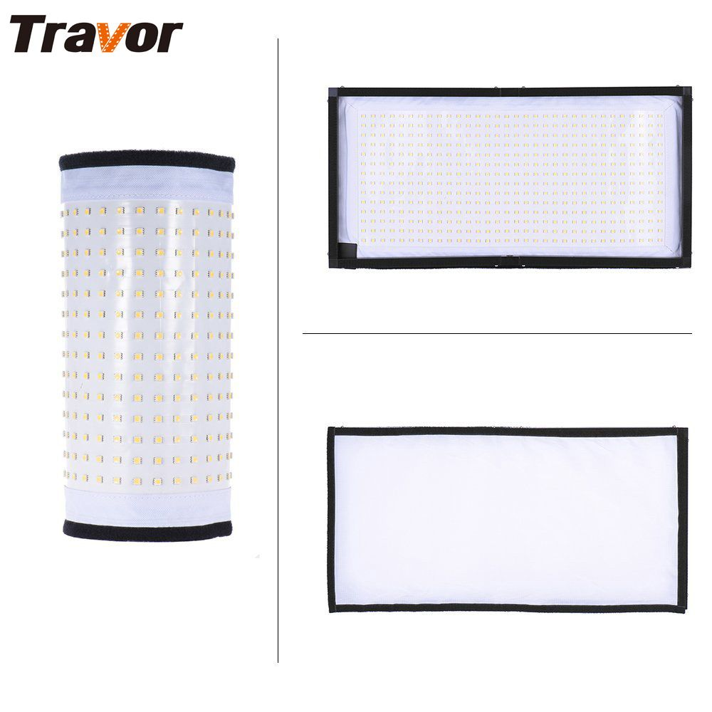 Travor FL-3060 Flexible led video light studio light size 30*60CM CRI95 5500K with 2.4G remote control photography lighting