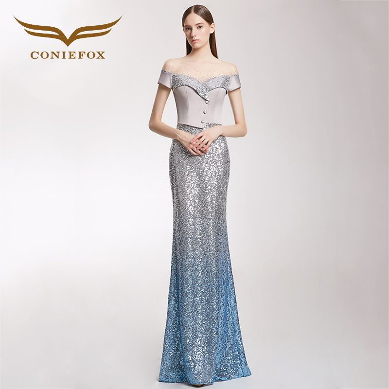CONIEFOX 32235 Fashion moderator Sexy personality sexy Ladies Retro elegance mermaid prom dresses party evening dress gown long