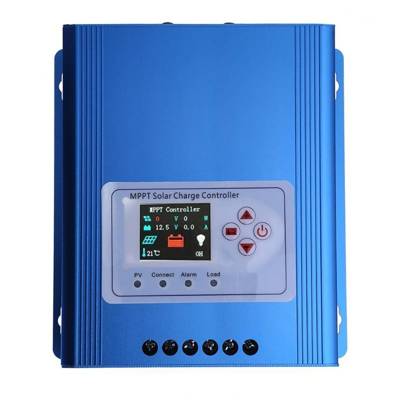 Aluminium alloy LCD Display 30A 12/24/48V MPPT Solar Panel Controller Regulator Charge Battery Protection