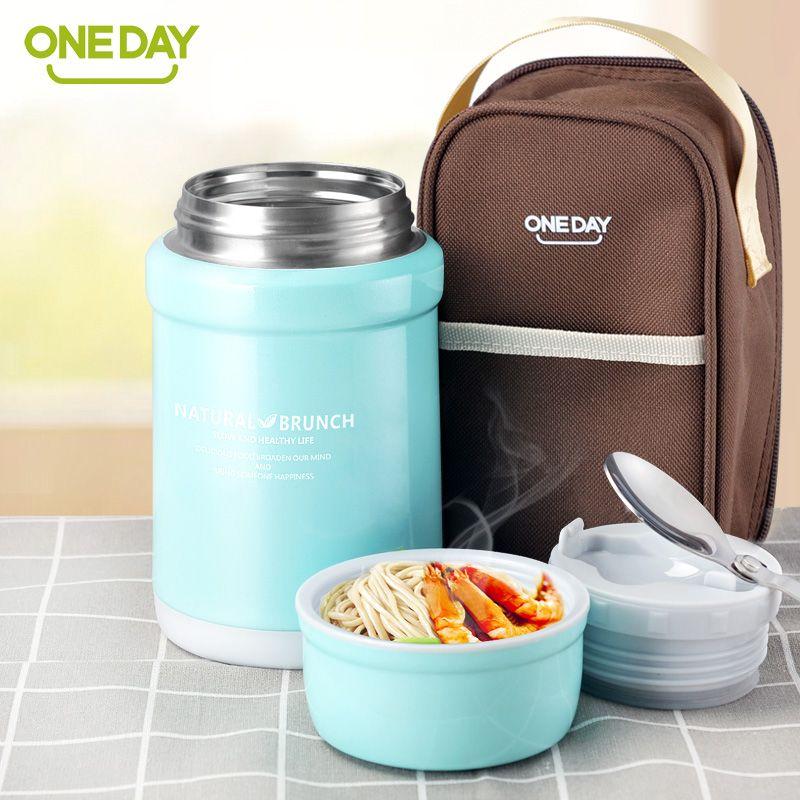 OneDay термос Еда вакуумный контейнер Колбы лабораторные суп Еда термос с термо-сумка суп Коробки для обедов утепленная Еда контейнер