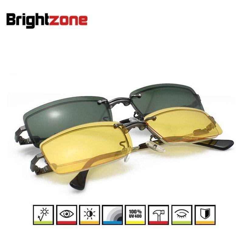 3 in 1 Männer Half-rim gläser rahmen für männer brillen rezept schauspiel rahmen mit Tag & Nacht Sonnenbrille anti-glare Clip-auf