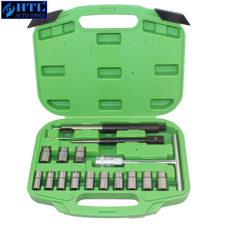 17PC Diesel Injector Seal kit Cutter Special Tools Injector Seat Injector