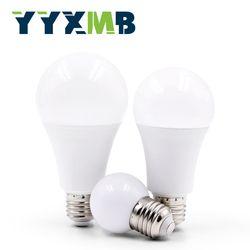 YYXMB LED Plastic aluminum bulb E27 3W 6W 9W 12W 15W 18W 20W 24W LED Bulbs 220V 230V 240V Cold white warm white