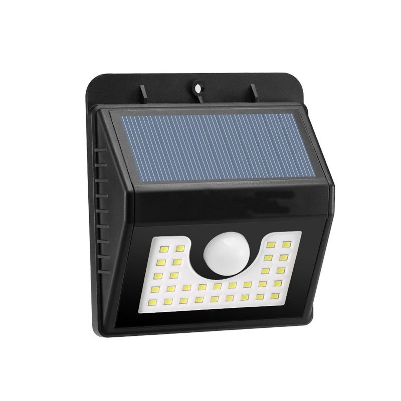 Versprechende 30 LED 200LM Solar PIR Menschlichen Körper Bewegungsmelder Wand Garten Im Freien Licht Lampe Wasserdicht IP65 2 Watt