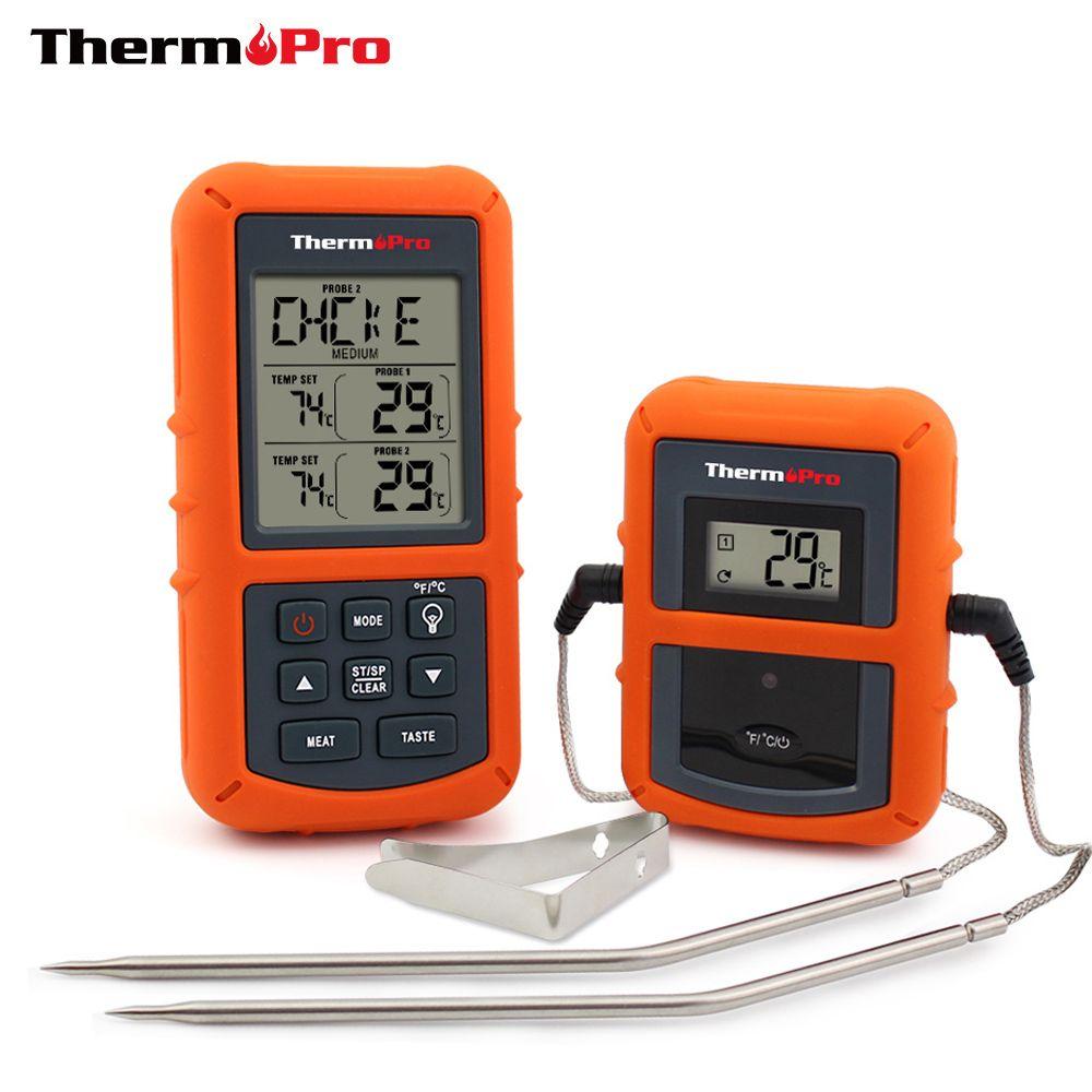 Thermopro tp-20 удаленного Беспроводной цифровой Принадлежности для шашлыков, печь термометр Главная Применение Нержавеющаясталь зонд большой ...