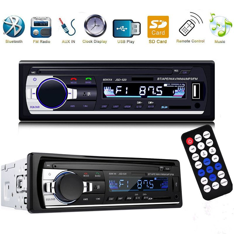 Stereo Subwoofer Bluetooth Car Radio 1.din HD Car Mp3 Player 60wx4 Radio SD Usb Bluetooth Digital FM Tuner Auto Radio Pioneer