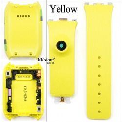 Yellow Original Back Cover Housing Pintu Belakang Penutup Baterai + Silikon Band Tali untuk Samsung Galaxy Gear V700 SM-V700