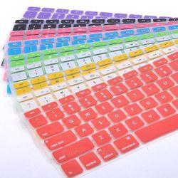 Clavier De Silicone Protecteur Peau pour Apple Macbook Pro MAC 13 15 Air 13 Doux clavier autocollants 9 Couleurs